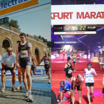 My first marathon Rome 2007 (left) and Frankfurt 2015 (right)
